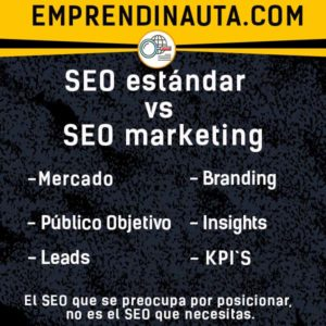 seo marketing mercado branding leads publico kpis